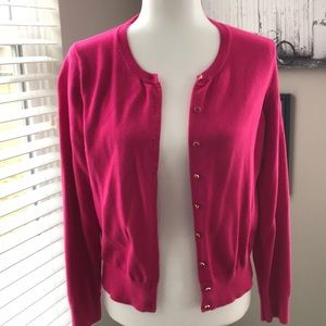 Banana Republic Pink Cardi with Gold Edged Buttons